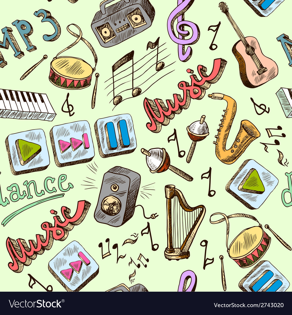 Music seamless vector | Price: 1 Credit (USD $1)