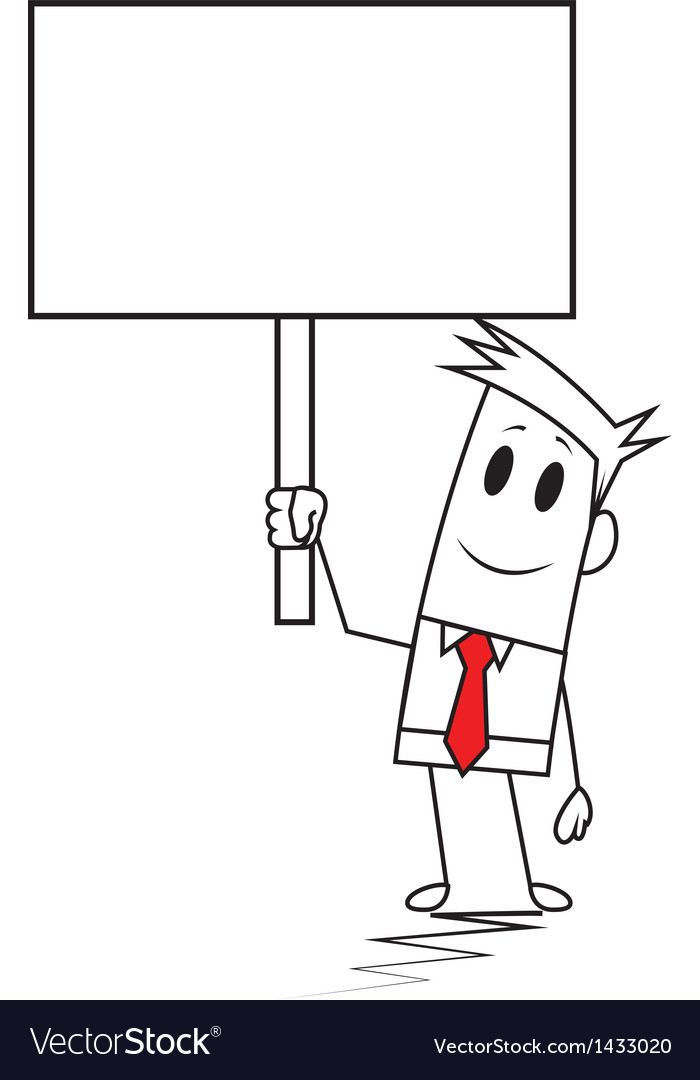 Square guy - signboard vector | Price: 1 Credit (USD $1)