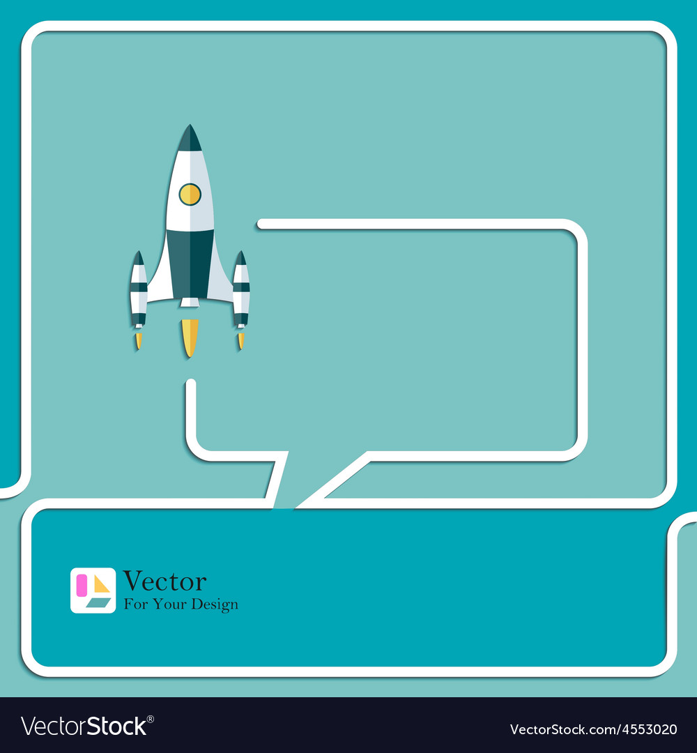 Start up new project speech bubbles and chat vector | Price: 1 Credit (USD $1)