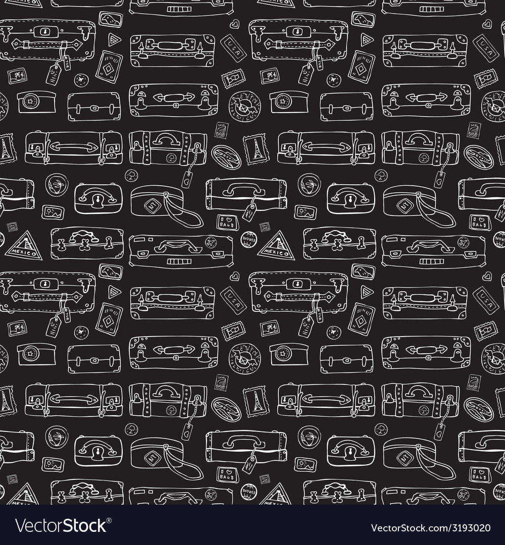 Suitcases seamless background vector | Price: 1 Credit (USD $1)