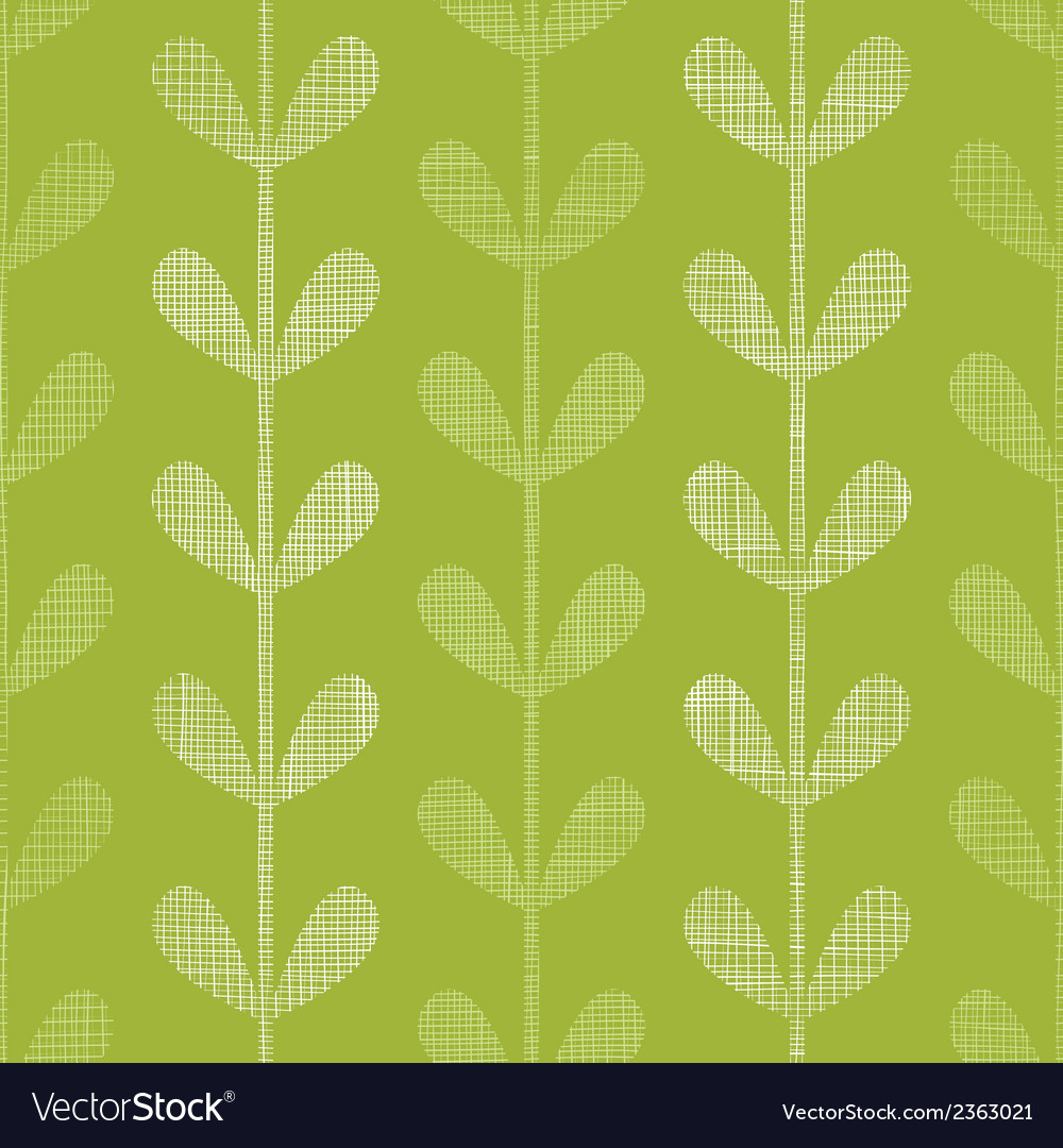 Abstract textile green vines leaves seamless vector | Price: 1 Credit (USD $1)