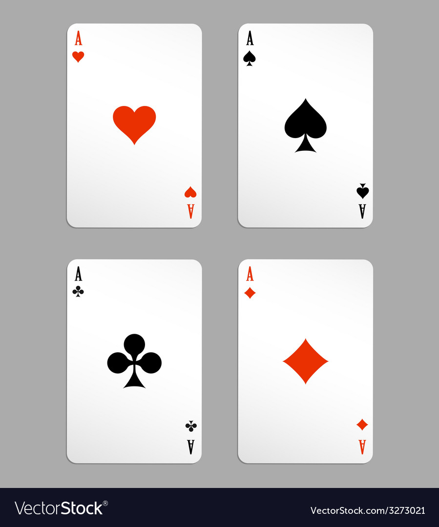 Ace playing cards vector | Price: 1 Credit (USD $1)