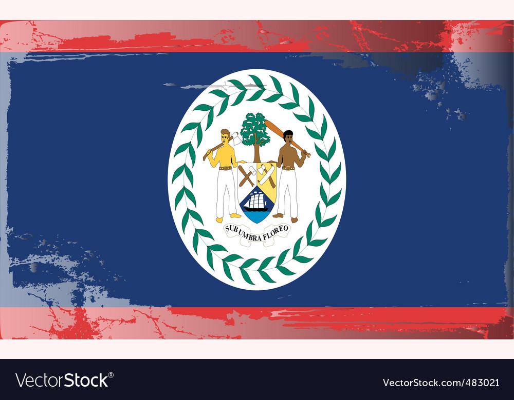 Belize flag vector | Price: 1 Credit (USD $1)