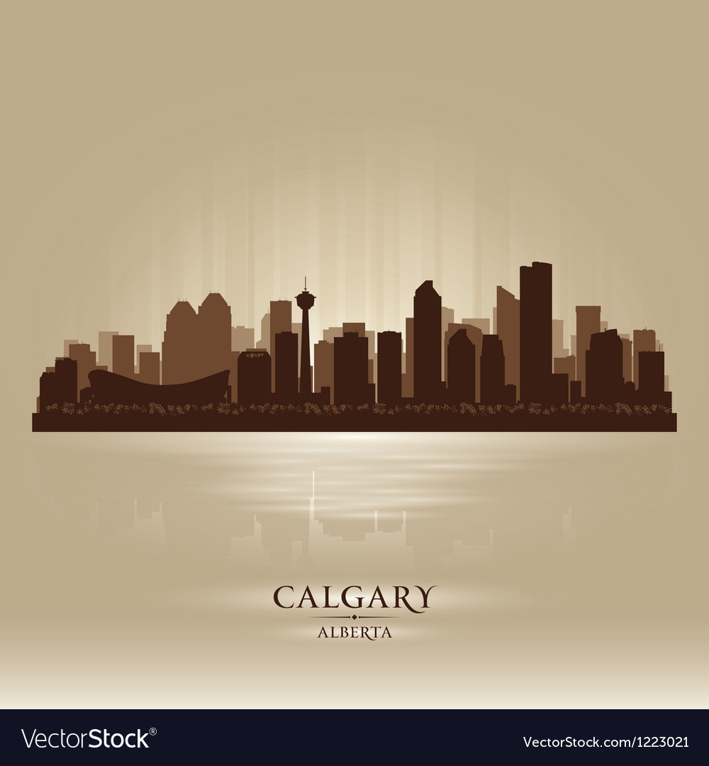 Calgary alberta skyline city silhouette vector | Price: 1 Credit (USD $1)