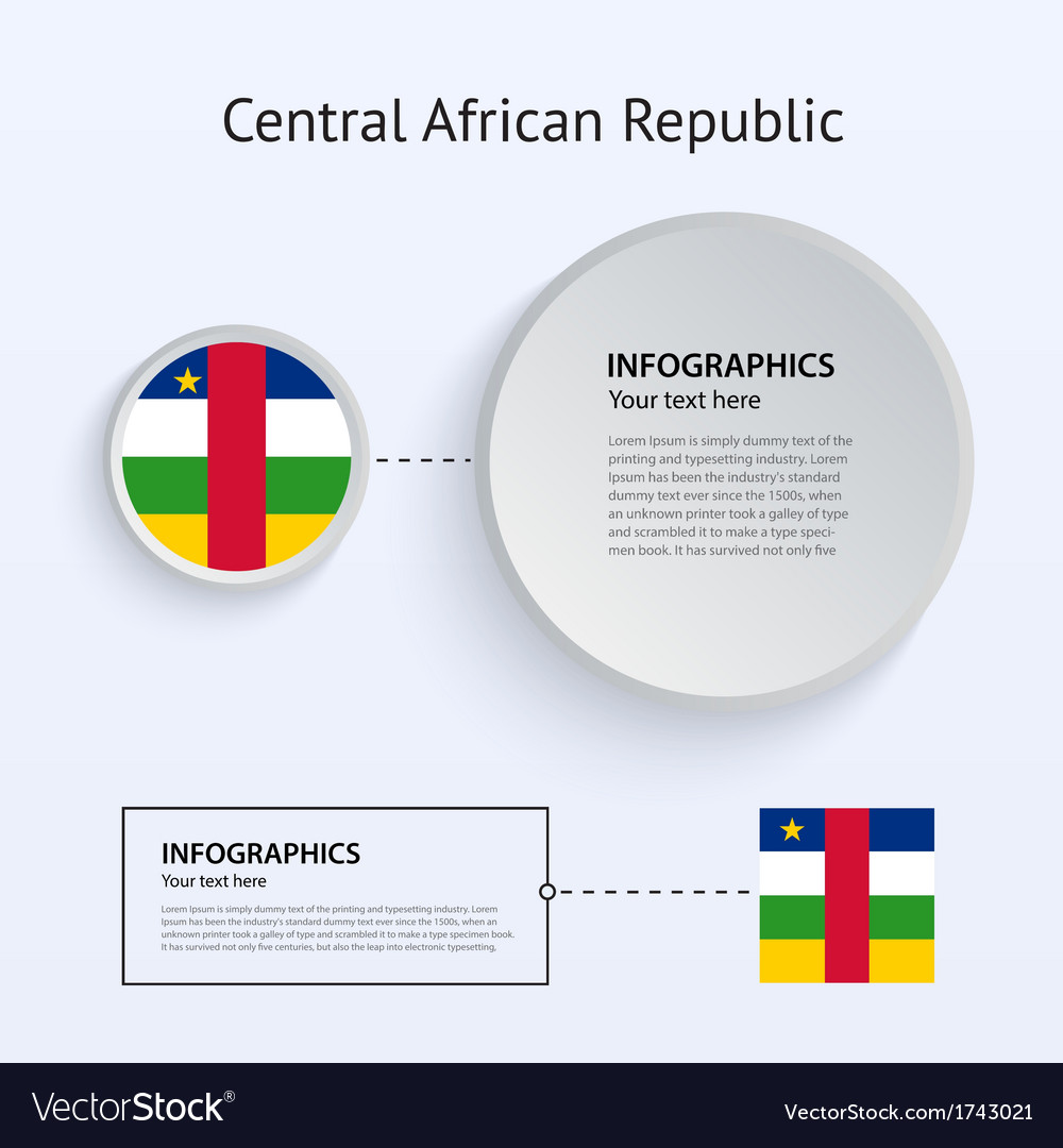 Central african republic country set of banners vector | Price: 1 Credit (USD $1)