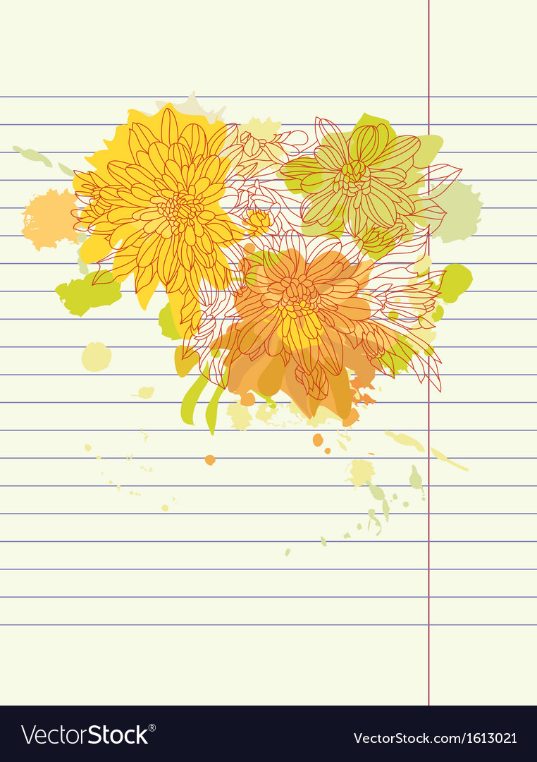 Hand drawing autumn flowers vector | Price: 1 Credit (USD $1)