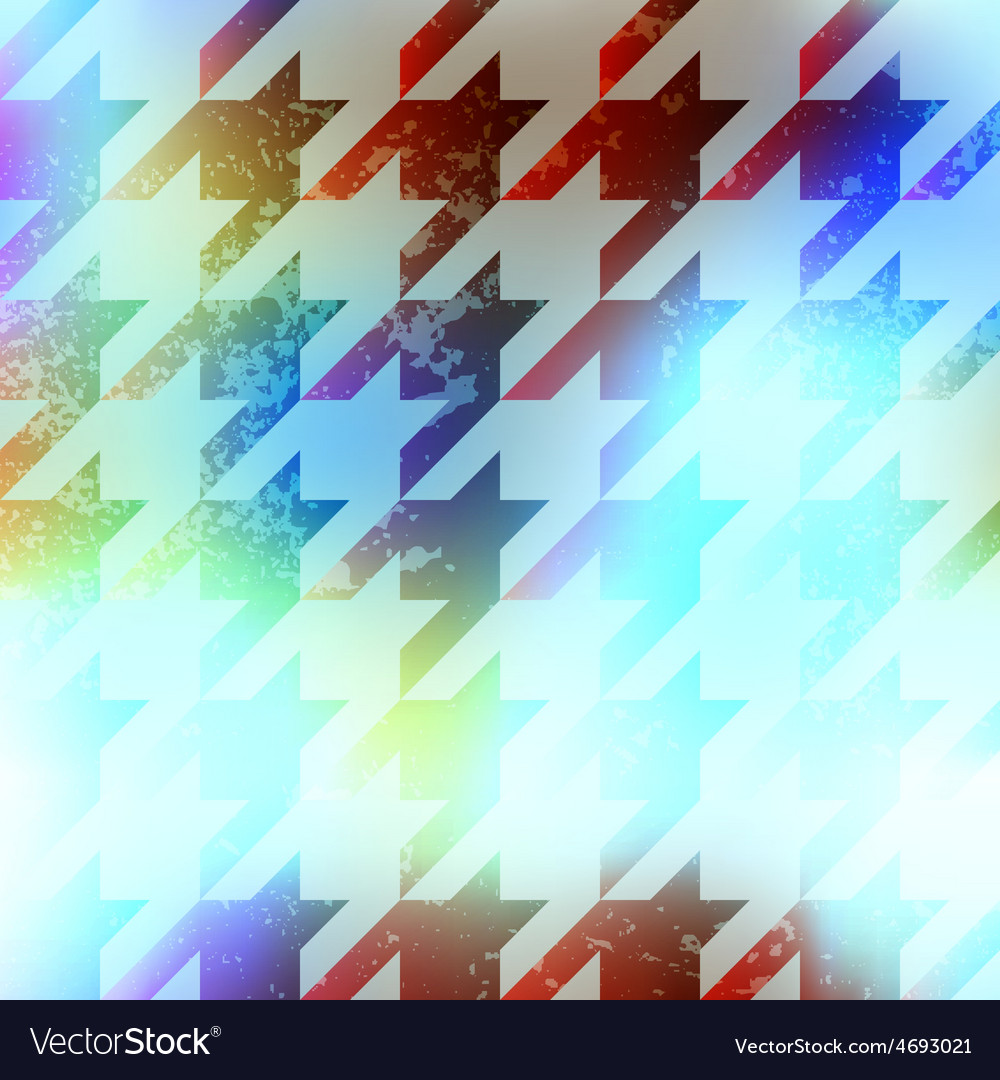 Houndstooth pattern on abstract blur background vector | Price: 1 Credit (USD $1)