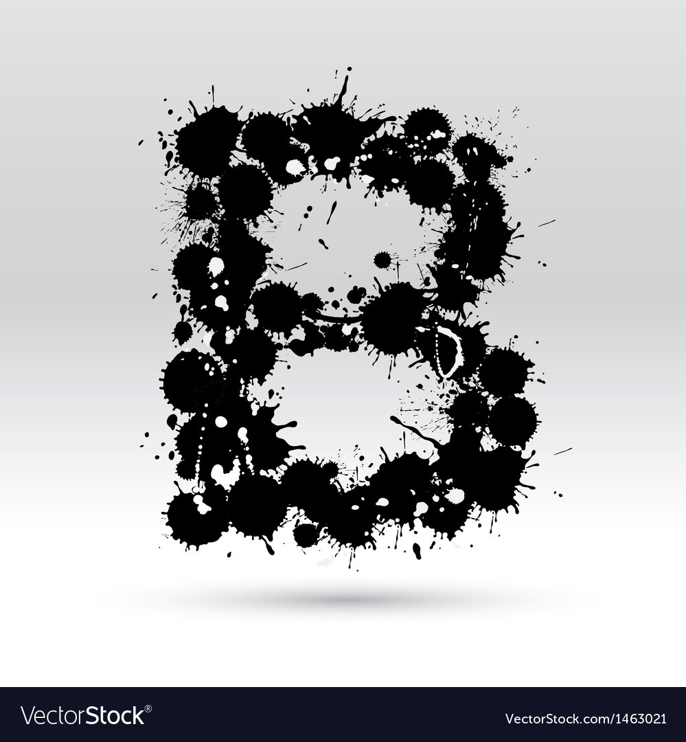 Letter b formed by inkblots vector | Price: 1 Credit (USD $1)