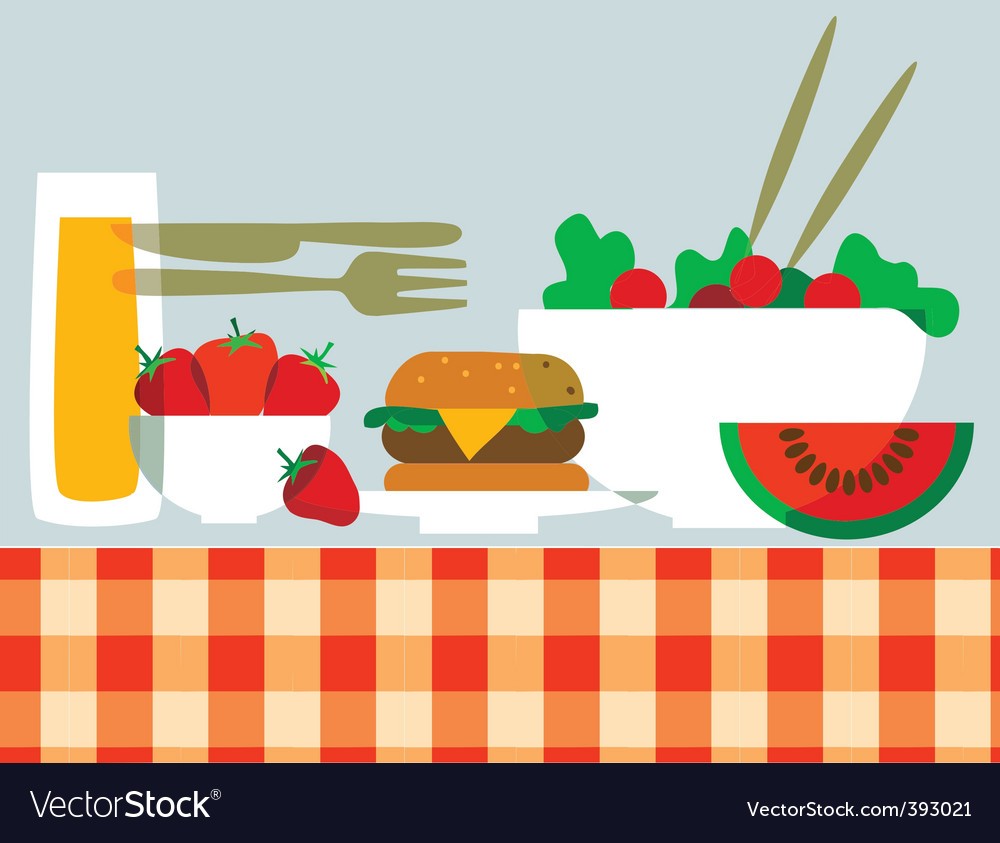 Picnic food vector | Price: 1 Credit (USD $1)