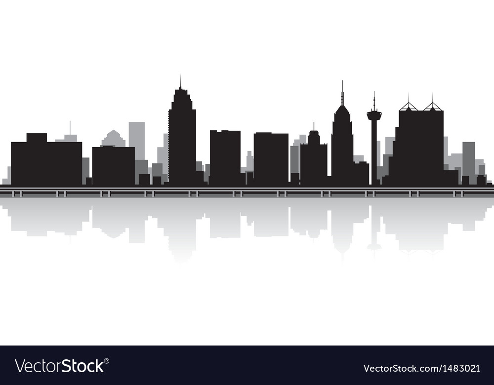 San antonio usa city skyline silhouette vector | Price: 1 Credit (USD $1)