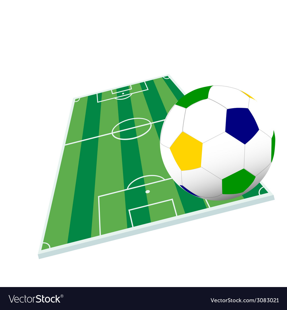 Soccer ball and playground color vector | Price: 1 Credit (USD $1)