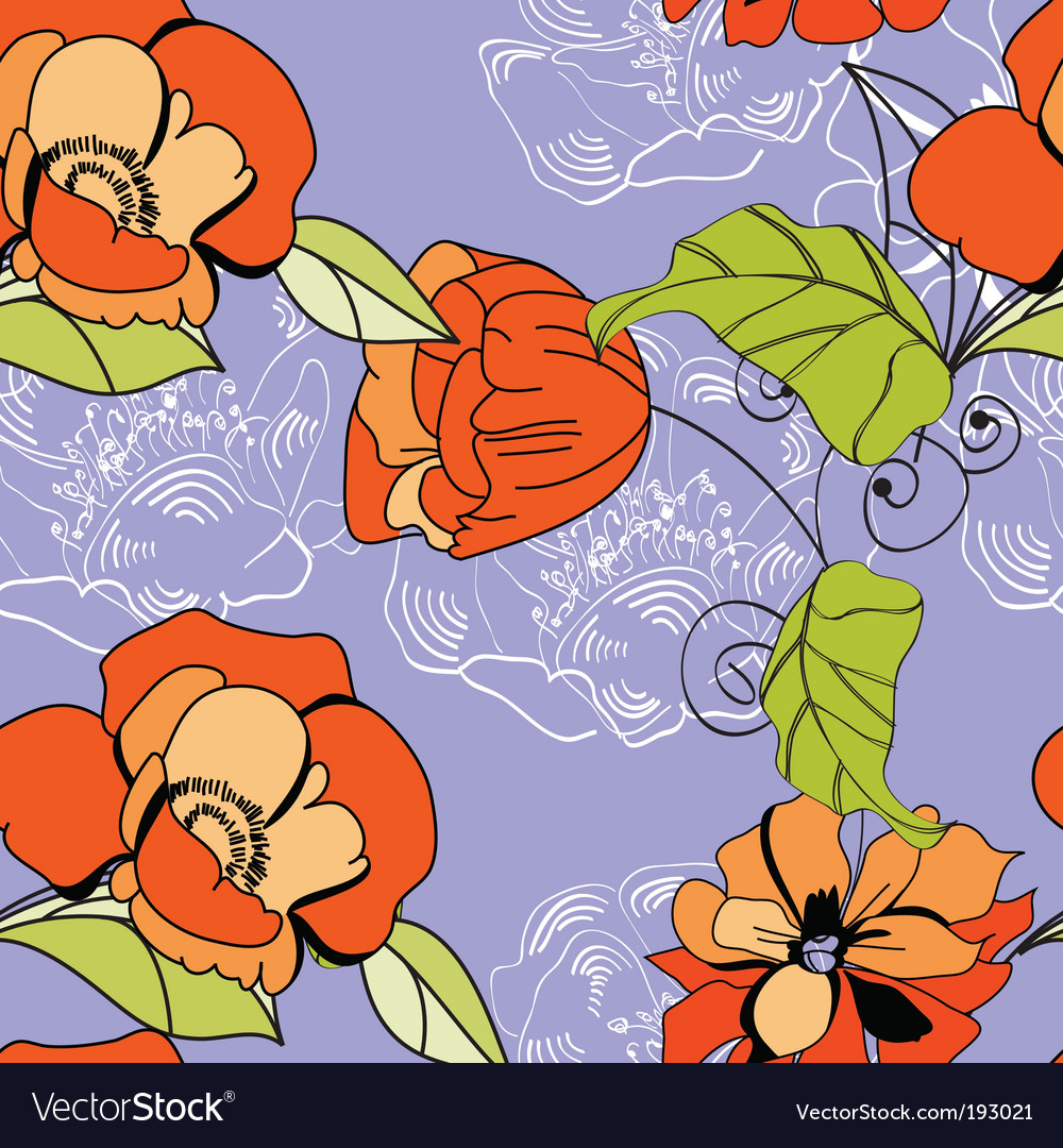 Summer seamless wallpaper vector | Price: 1 Credit (USD $1)