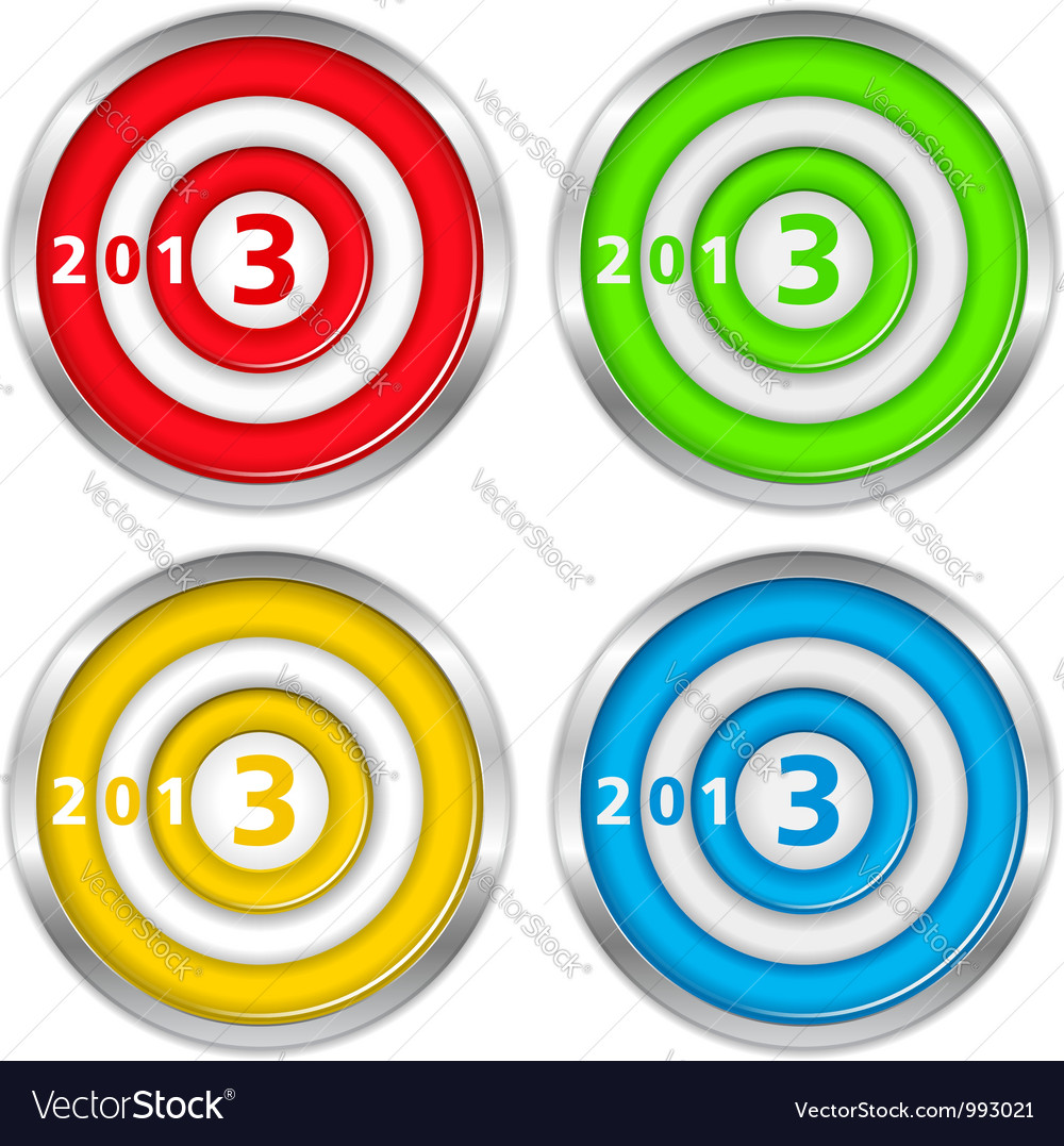 Targets with number 2013 vector | Price: 1 Credit (USD $1)