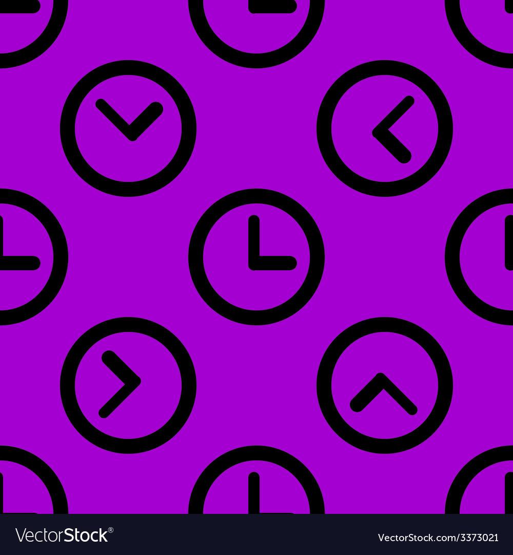 Watch web icon flat design seamless pattern vector | Price: 1 Credit (USD $1)