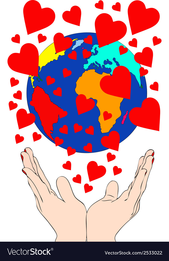 A whole world of love vector | Price: 1 Credit (USD $1)