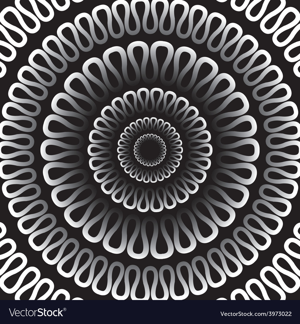 Background radial pattern on a black background vector | Price: 1 Credit (USD $1)