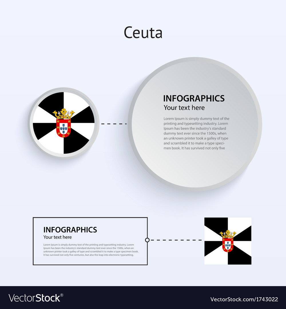 Ceuta country set of banners vector | Price: 1 Credit (USD $1)