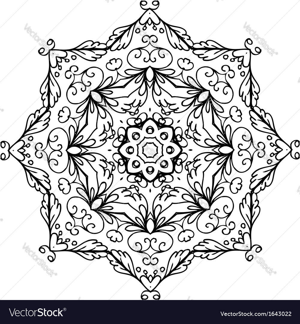 Floral ornament arabesque hand drawn sketch for vector | Price: 1 Credit (USD $1)