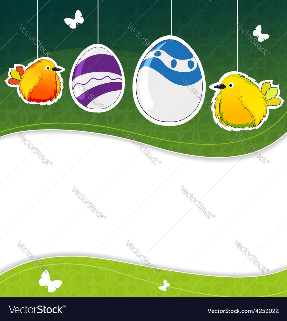 Green easter background vector | Price: 3 Credit (USD $3)