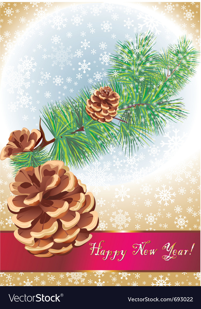 Happy new year card vector | Price: 1 Credit (USD $1)