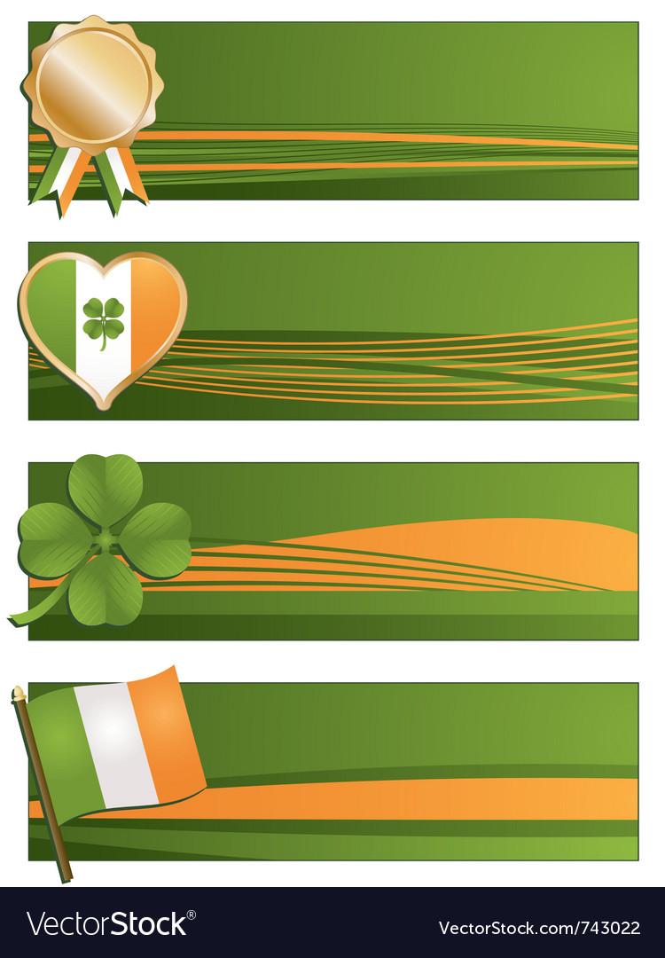 Irish banners vector | Price: 1 Credit (USD $1)