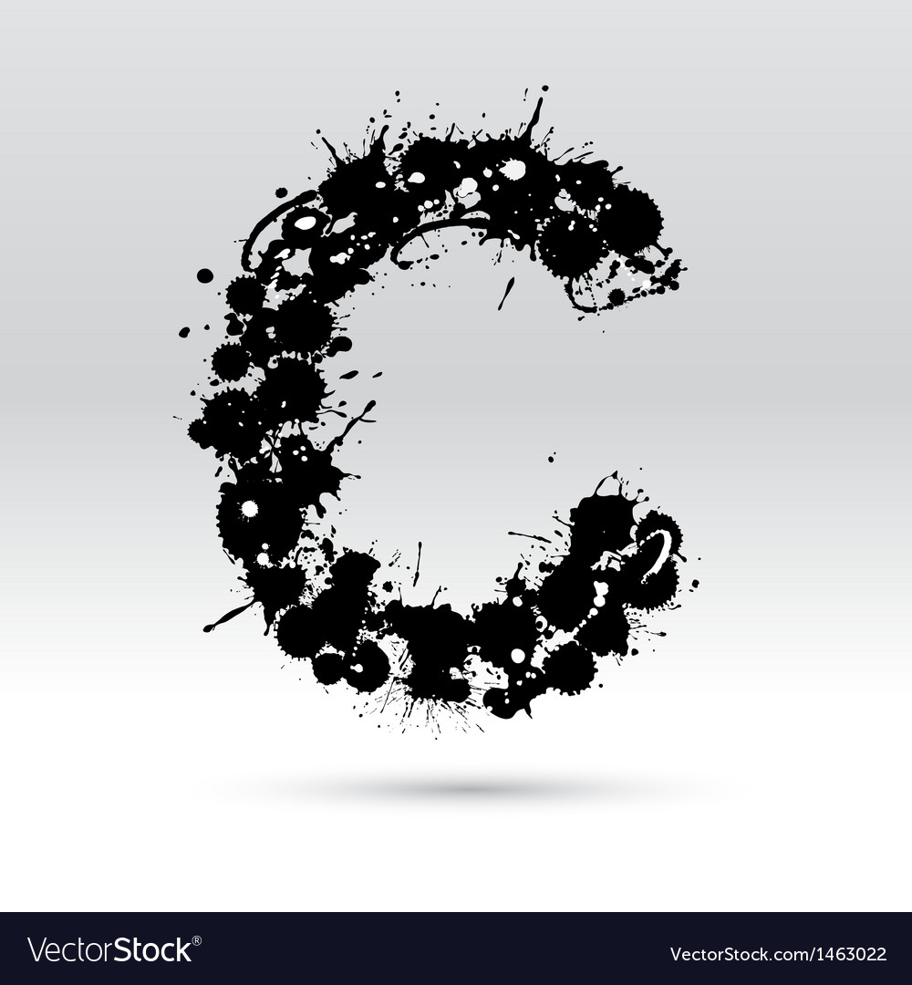 Letter c formed by inkblots vector | Price: 1 Credit (USD $1)