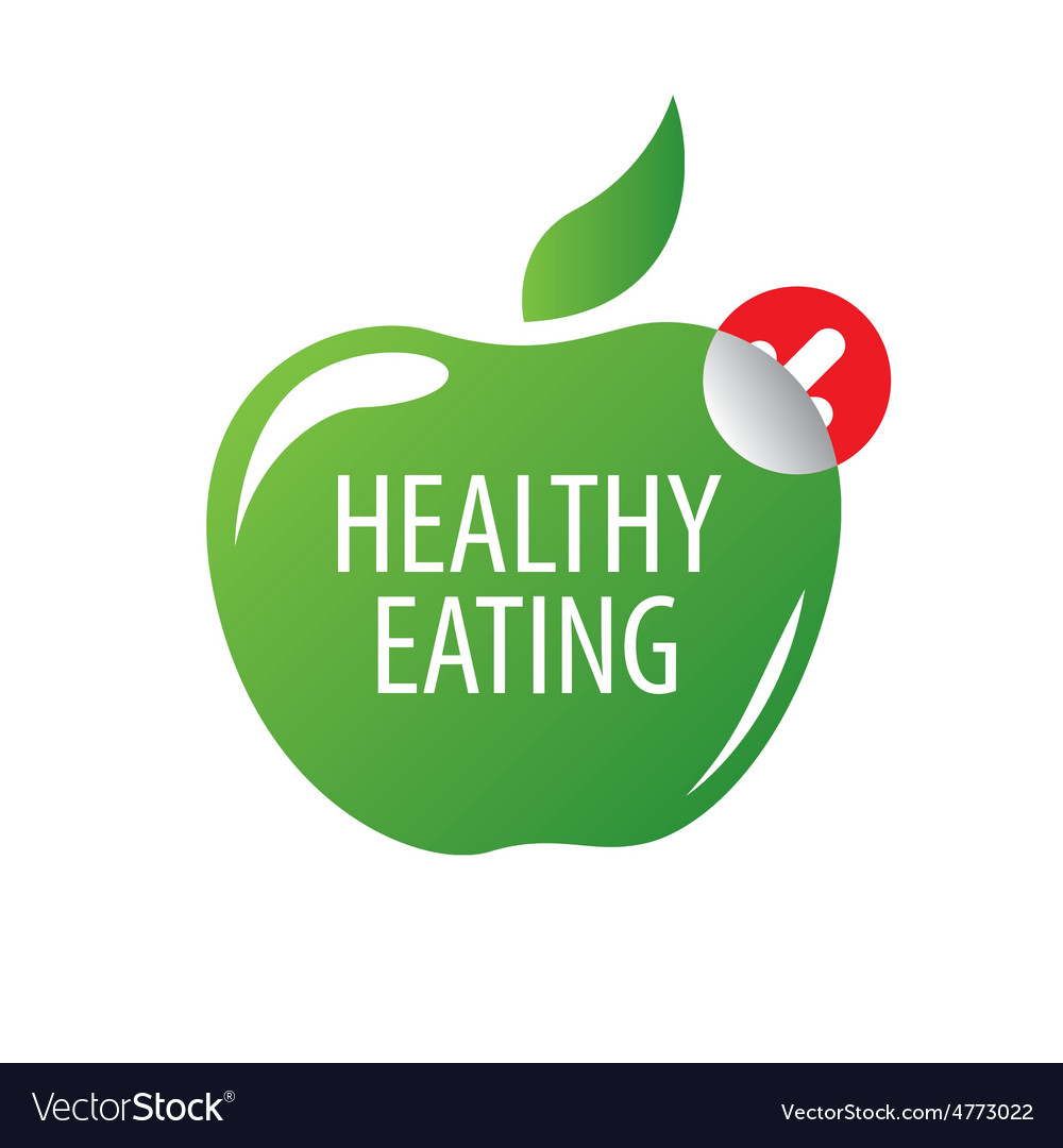 Logo green apple for a healthy diet vector | Price: 1 Credit (USD $1)