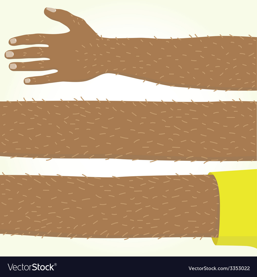 Long afro american hand isolated vector | Price: 1 Credit (USD $1)