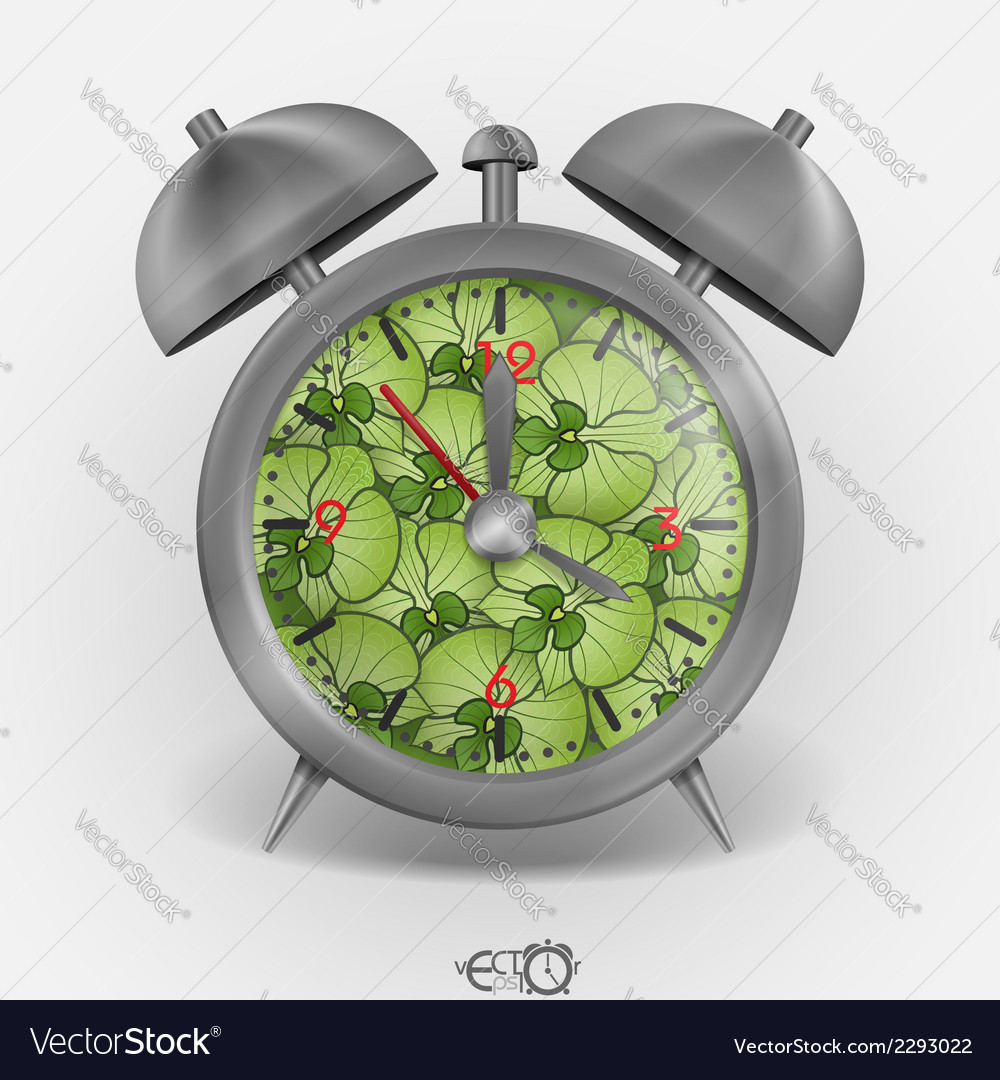 Metal classic style alarm clock vector | Price: 1 Credit (USD $1)