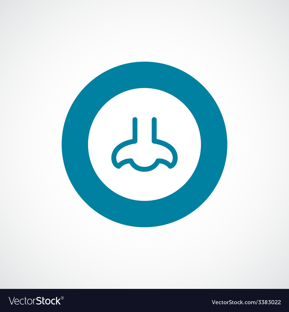 Nose bold blue border circle icon vector | Price: 1 Credit (USD $1)