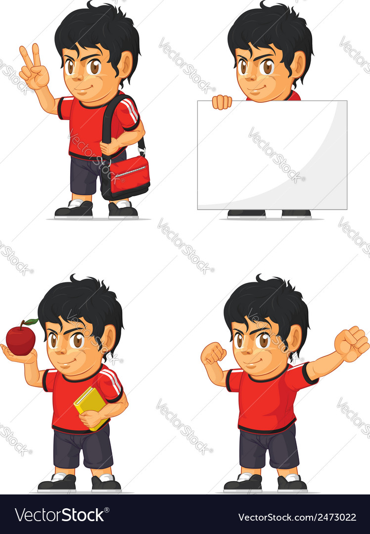 Soccer boy customizable mascot 13 vector | Price: 1 Credit (USD $1)