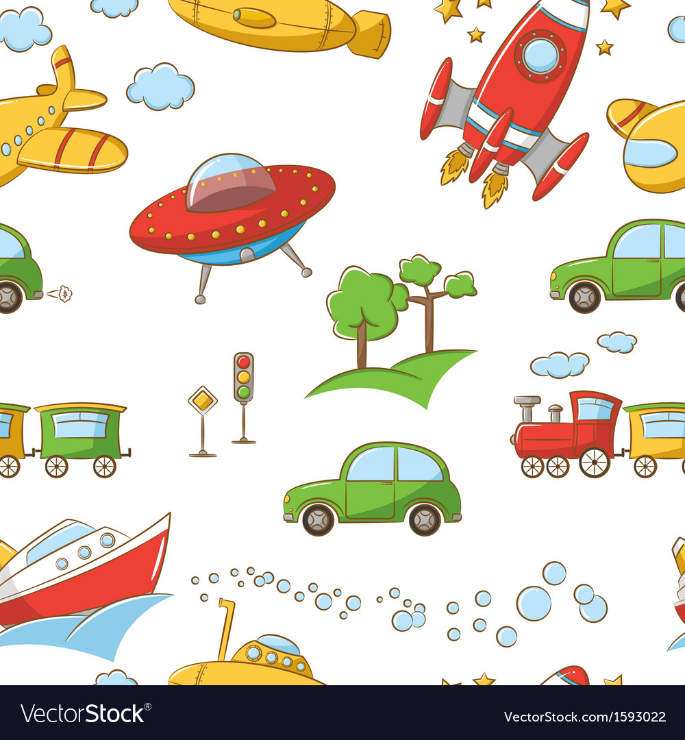 Transportation pattern vector | Price: 1 Credit (USD $1)