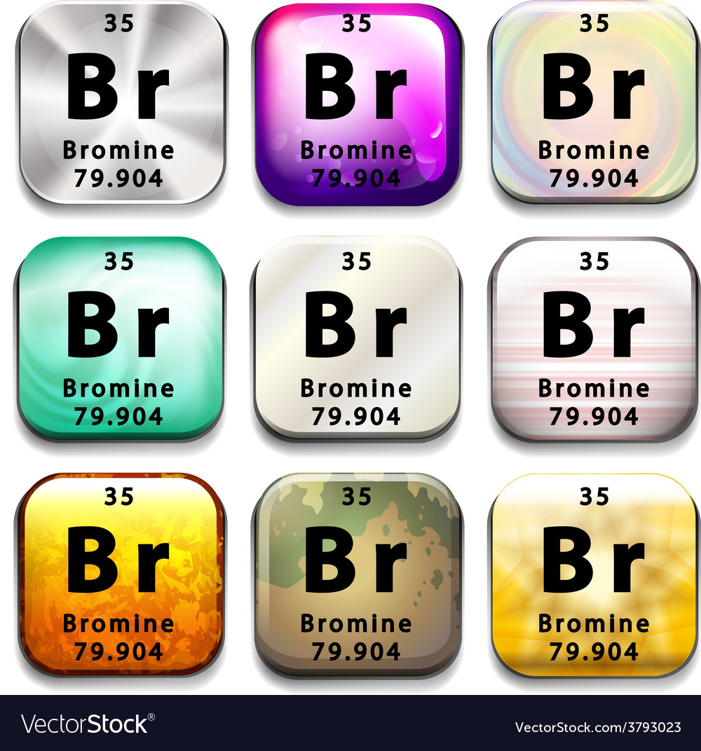 The bromine element vector | Price: 1 Credit (USD $1)