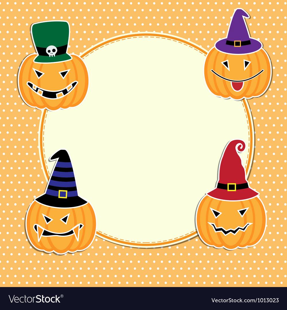 Cute halloween card vector | Price: 1 Credit (USD $1)