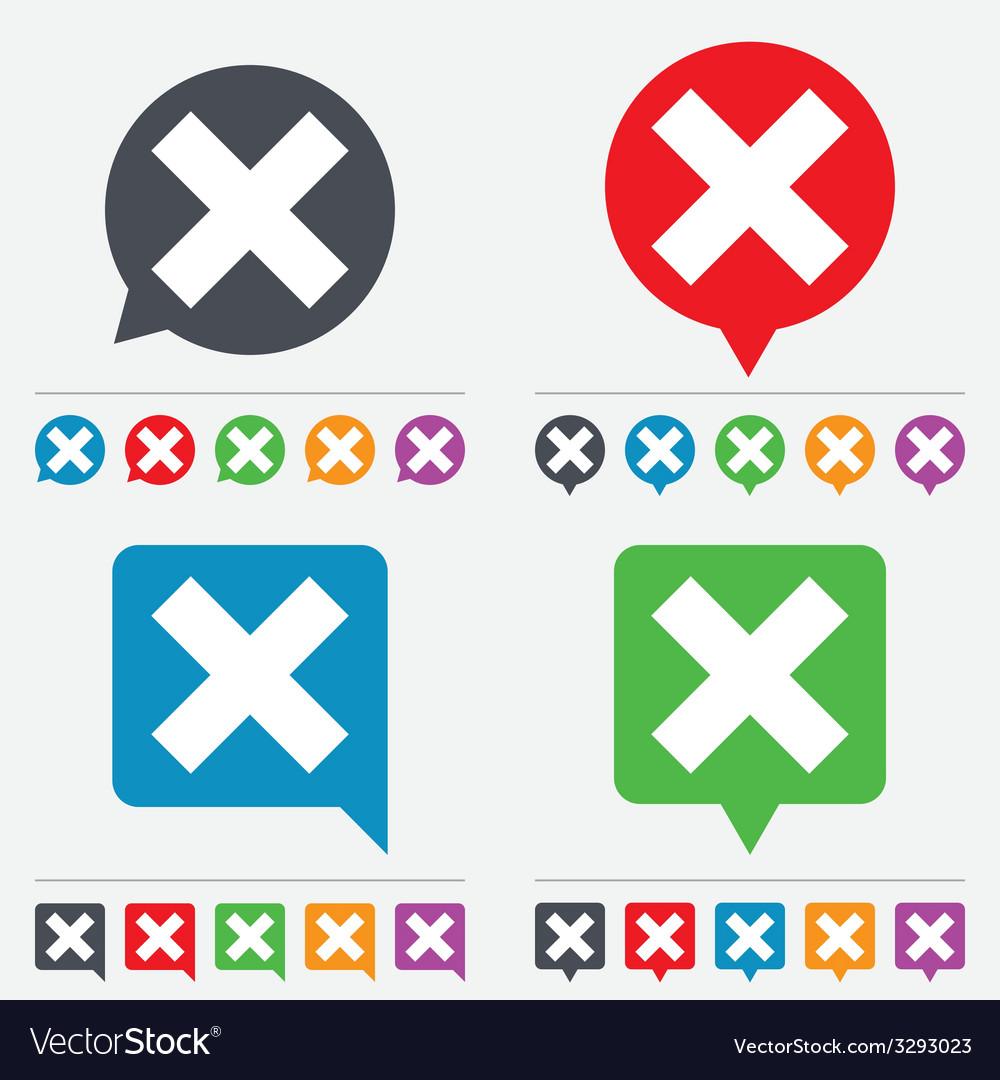 Delete sign icon remove button vector | Price: 1 Credit (USD $1)