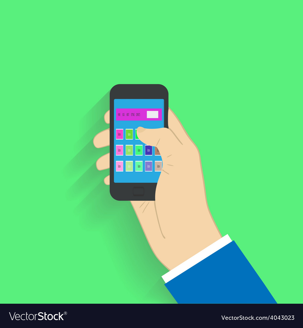 Flat design style choosing on smartphone vector