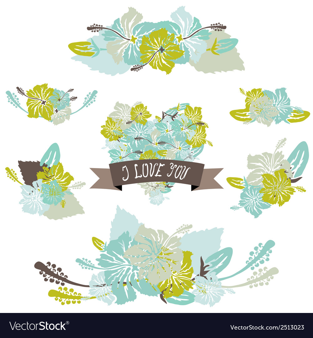Floral bouquets vector   Price: 1 Credit (USD $1)