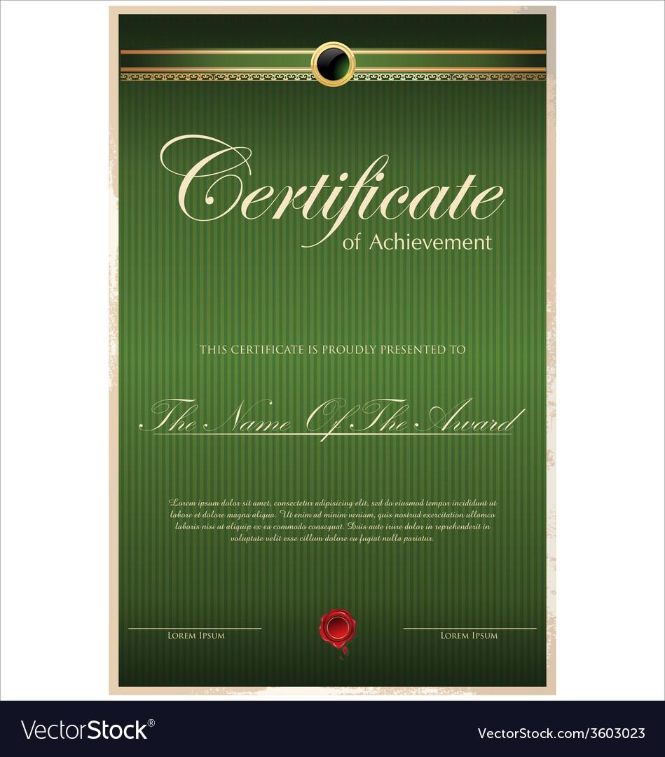 Green certificate template vector | Price: 1 Credit (USD $1)