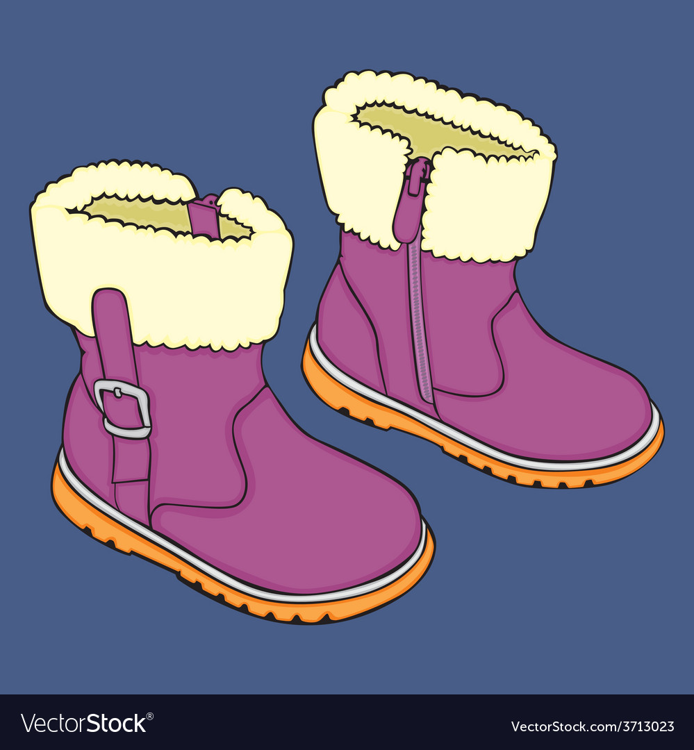 Kid winter shoes vector   Price: 1 Credit (USD $1)