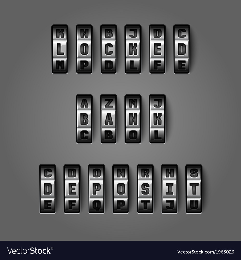 Locked bank deposit concept vector | Price: 1 Credit (USD $1)