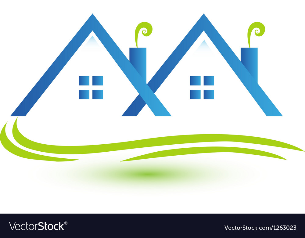 Townhouses real estate logo vector | Price: 1 Credit (USD $1)