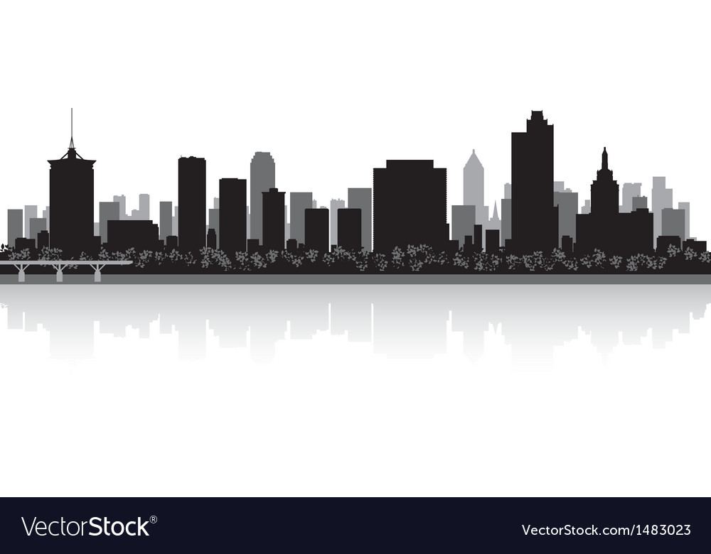 Tulsa usa city skyline silhouette vector | Price: 1 Credit (USD $1)