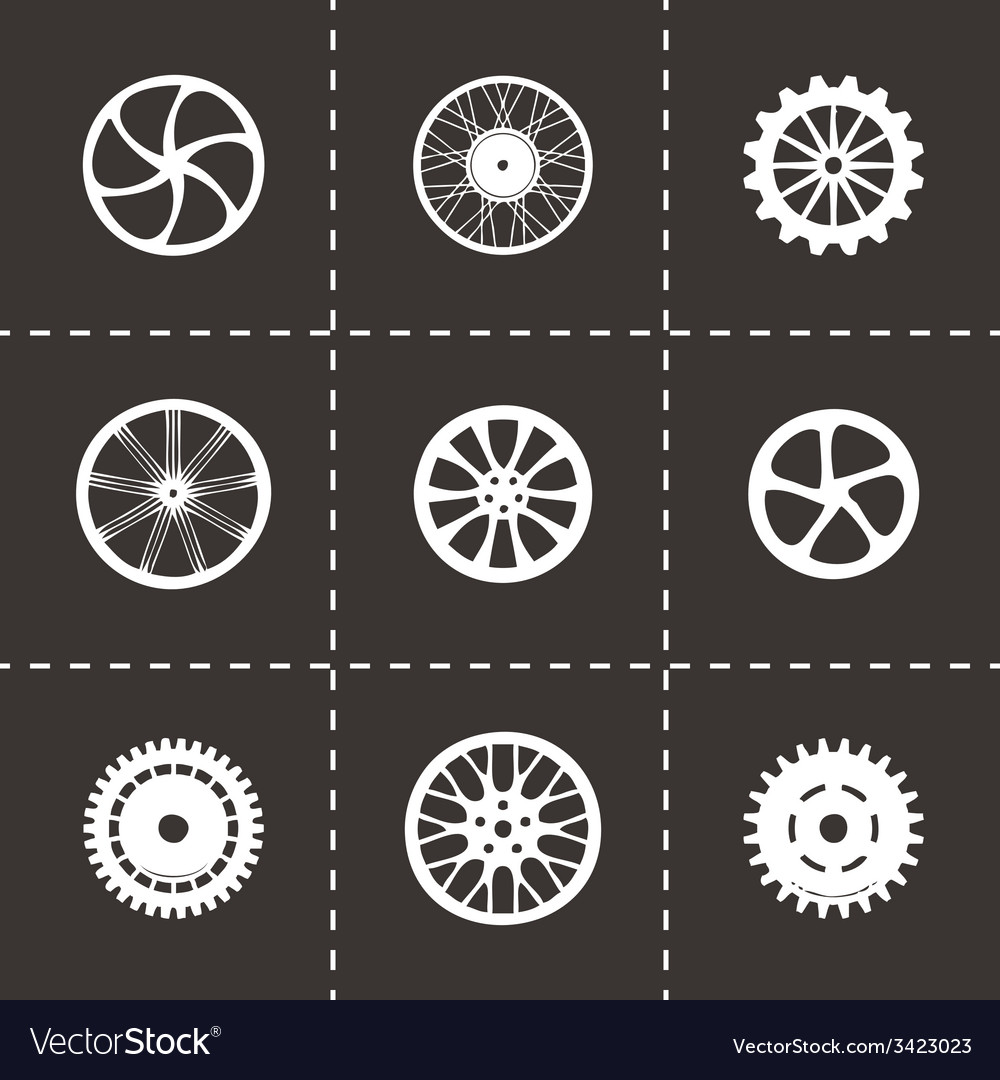 Wheel icon set vector   Price: 1 Credit (USD $1)