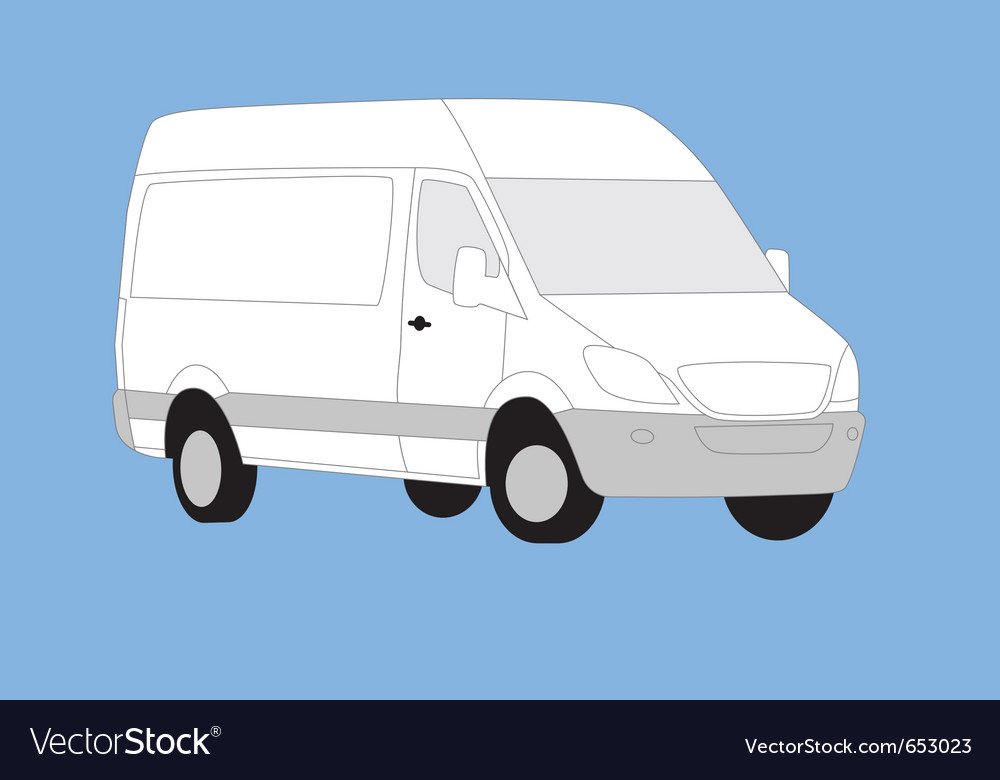 White delivery van vector   Price: 1 Credit (USD $1)