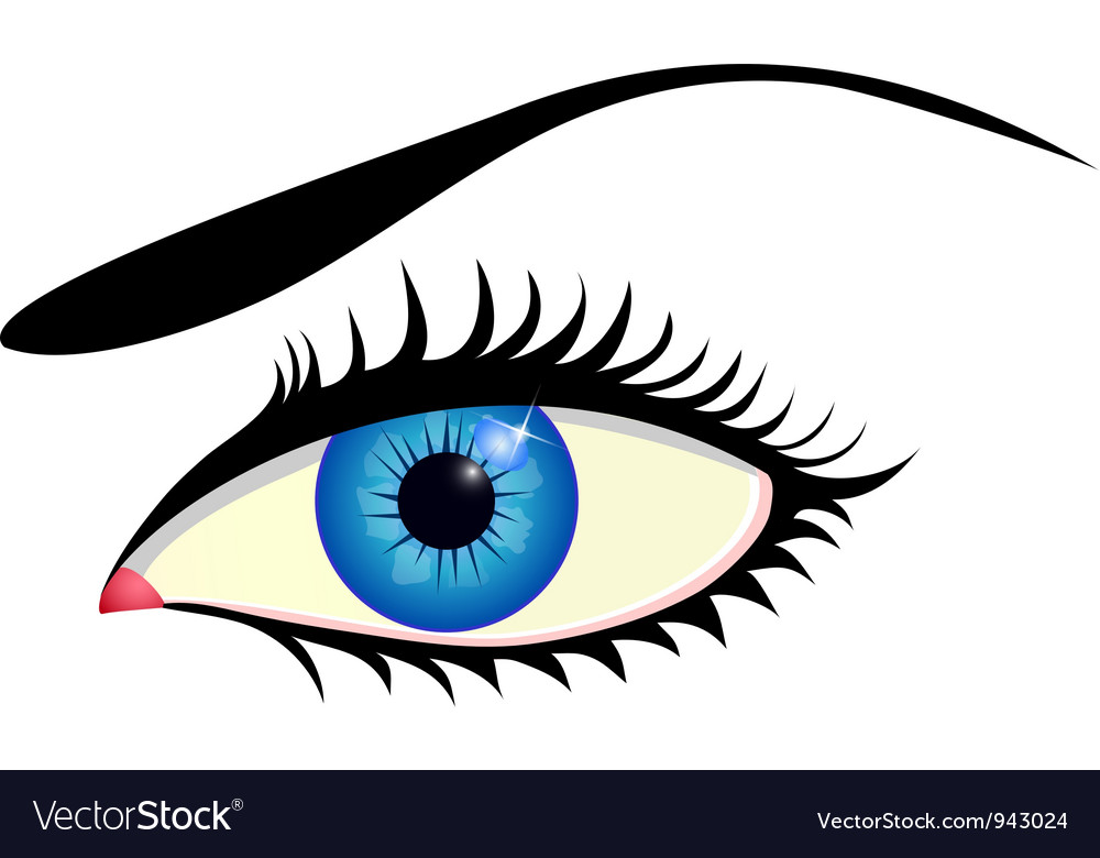 Beautiful blue eye vector | Price: 1 Credit (USD $1)