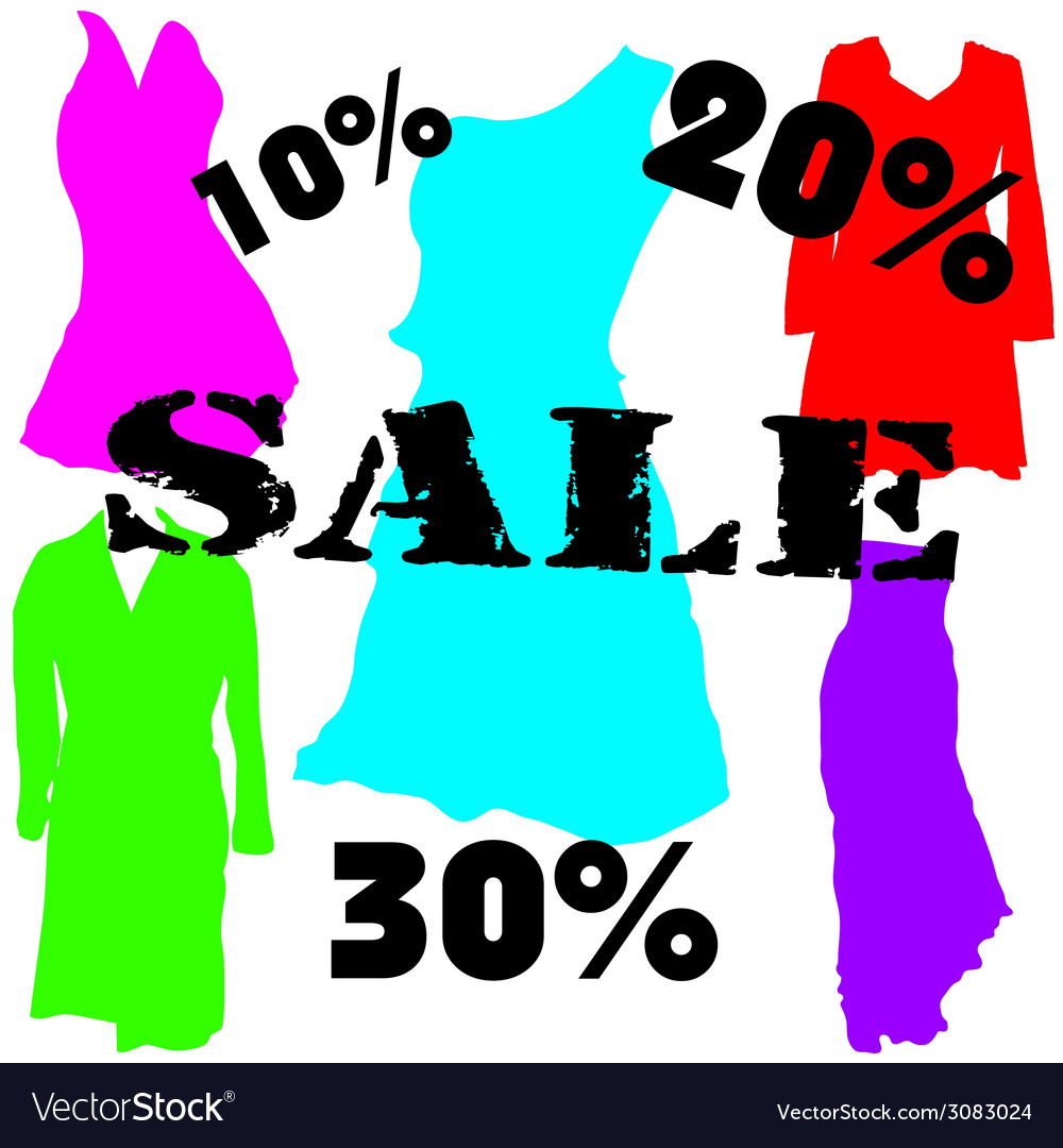 Dress on sale color vector | Price: 1 Credit (USD $1)