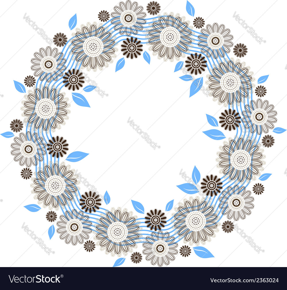 Floral round ornament vector | Price: 1 Credit (USD $1)