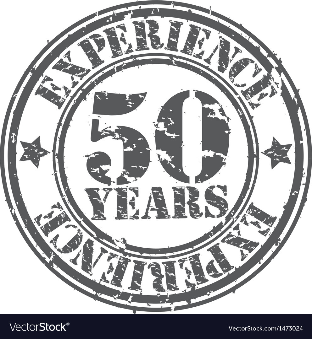 Grunge 50 years of experience rubber stamp vector | Price: 1 Credit (USD $1)