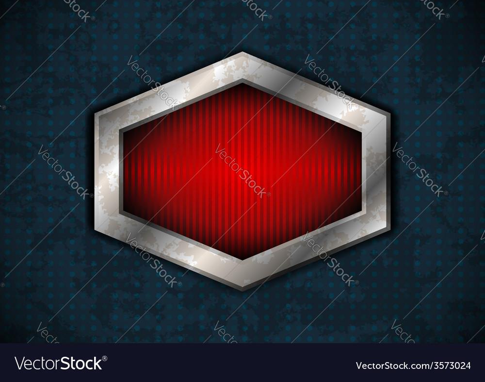 Hexagonal metal frame vector | Price: 1 Credit (USD $1)