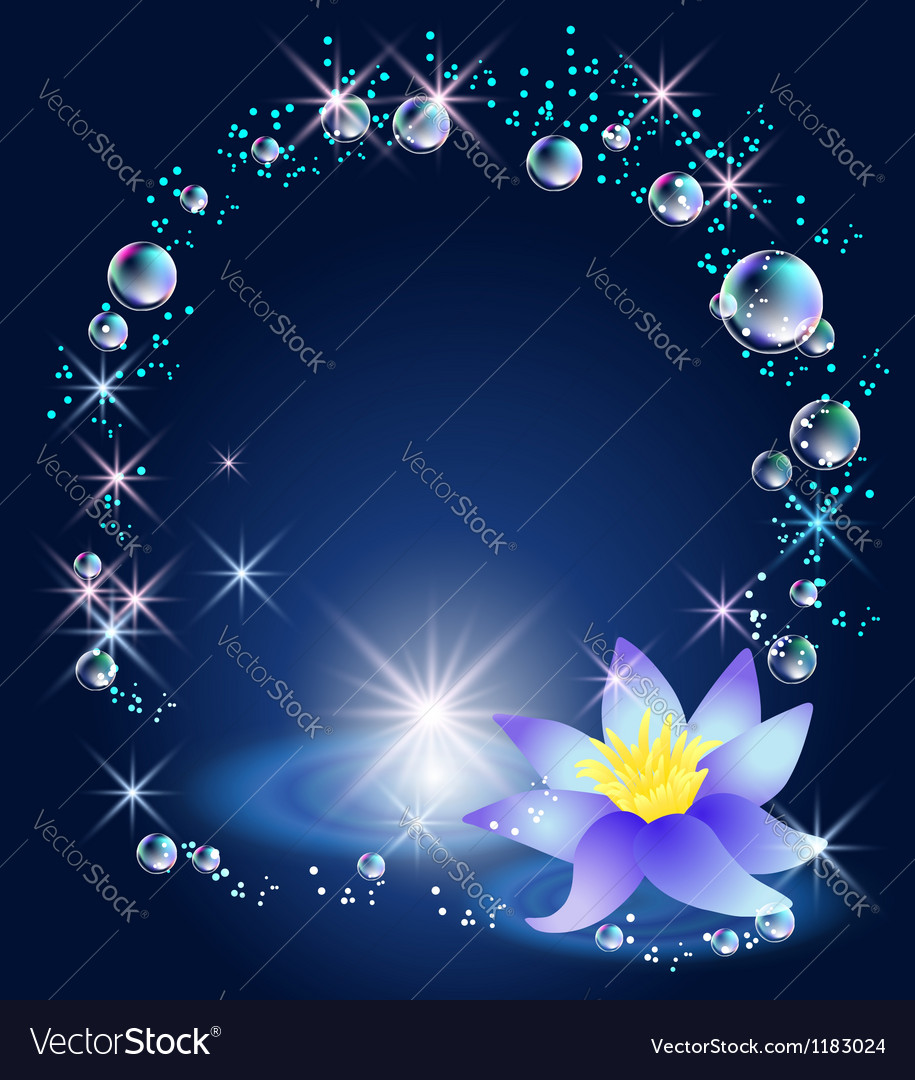 Magic lily stars and bubbles vector | Price: 1 Credit (USD $1)